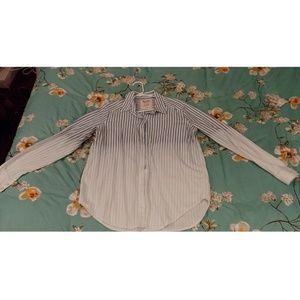 Women's Striped Boyfriend Button Down Shirt